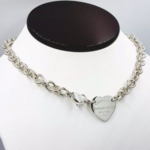 Authentic Tiffany & Co Heart Choker 925 Necklace